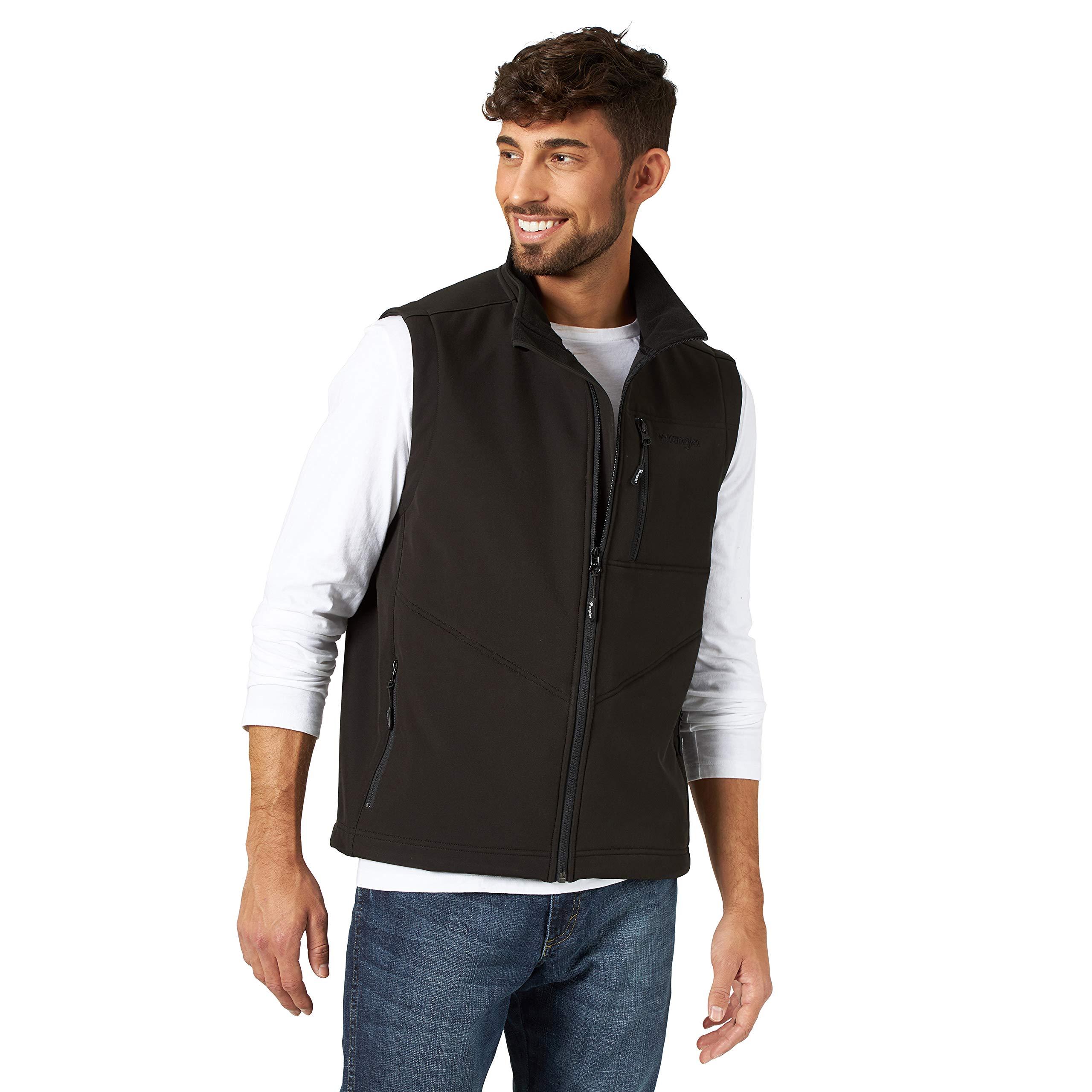 Wrangler Men's Concealed Carry Stretch Trail Vest, Black, 4X by Wrangler