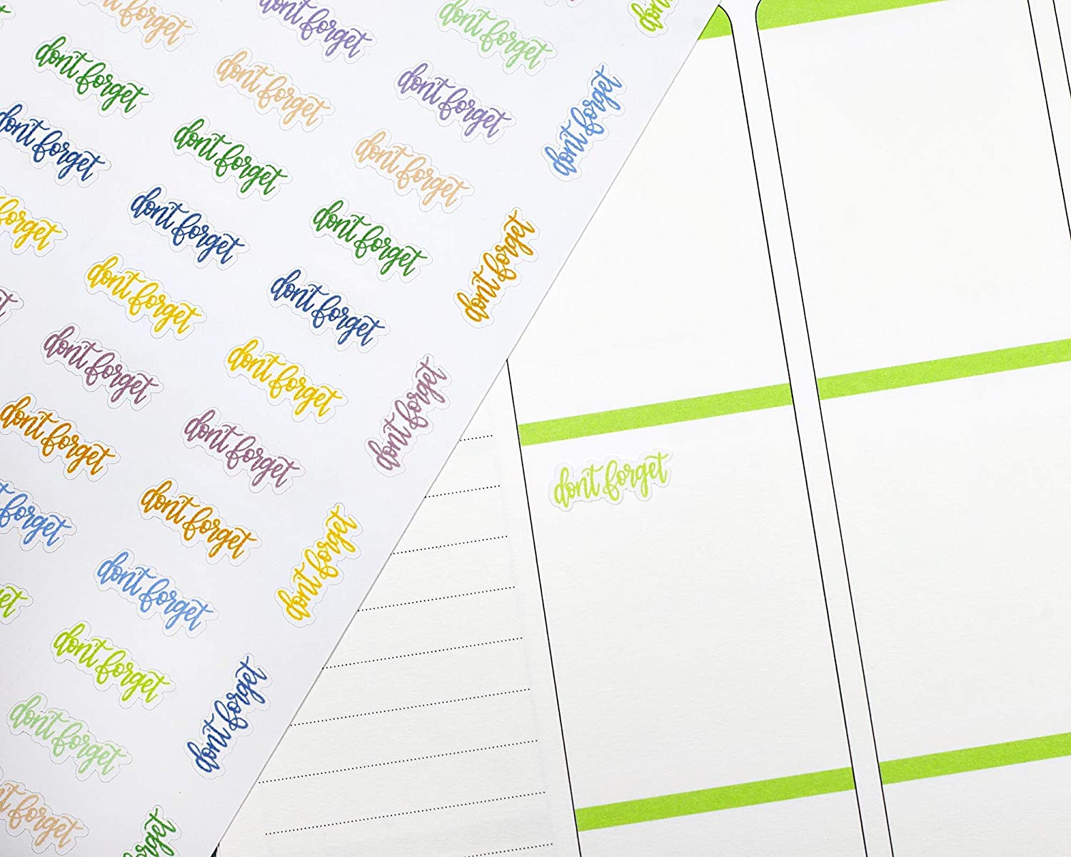 ECLPDont Forget Labels To Buy Planner Stickers Dont Forget Label Planner Stickers #904-028-056XL-WH