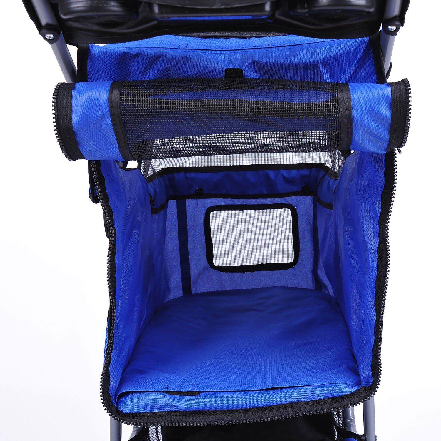MDOG2 MK0015A 3-Wheel Front and Rear Entry Pet Stroller, Blue by MDOG2 (Image #4)