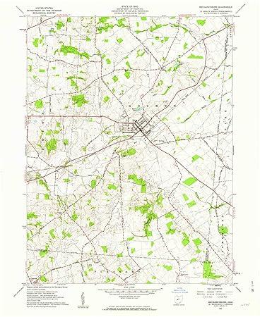 Mechanicsburg Ohio Map.Amazon Com Yellowmaps Mechanicsburg Oh Topo Map 1 24000 Scale