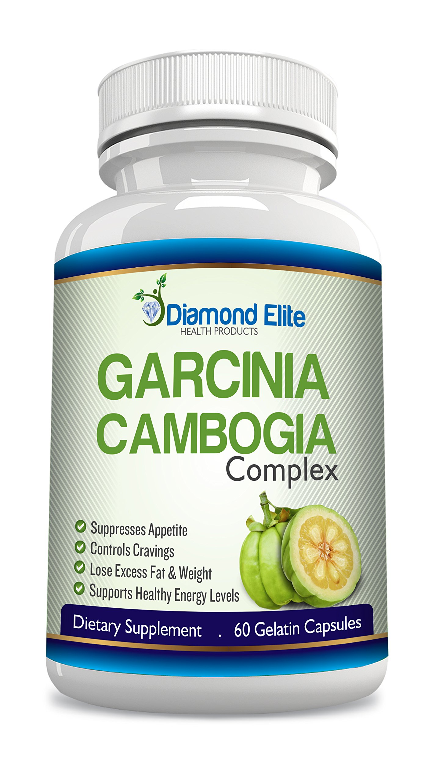 Garcinia Cambogia Complex NATURAL WEIGHT LOSS SUPPLEMENT - APPETITE SUPPRESANT for FAST WEIGHT LOSS! - 100% MONEY BACK GUARANTEE!