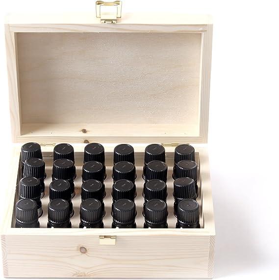 Aceite Esencial Pack Básico En Madera Regalo Caja - 24 x 10ml - 100% Puro: Amazon.es: Hogar