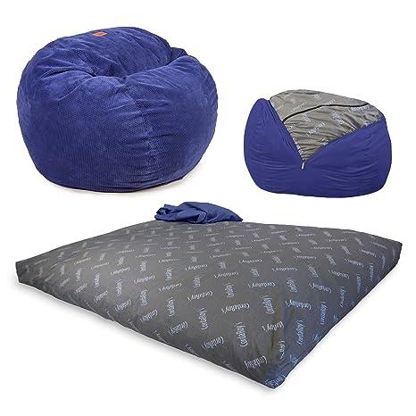 cordaroy s Chenille Bean Bag sillón, Azul Marino, Full ...