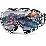 Skibrille Motorrad Goggle Motocross Wind Staubschutz Fliegerbrille Snowboardbrille Schneebrille Wintersport Brille Dirtbike Schutzbrille durch Waitiee mit UV-Schutz Anti-Fog Für Damen Und Herren