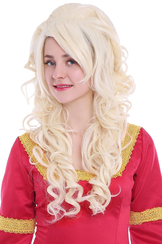 Nuoqi® Women s long Blonde wave cosplay wigs Halloween Fancy Dress (zy65c)   Amazon.co.uk  Beauty 226dd2c240