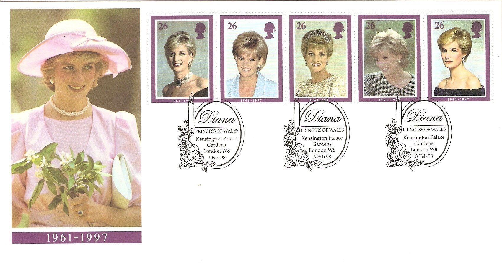 1998 Diana, Princess of Wales First Day Cover