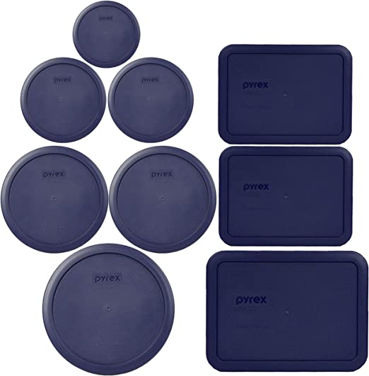 Pyrex 7402-PC 6//7 Cup Cadet Blue Round Plastic Storage Lid Cover for Glass Bowl