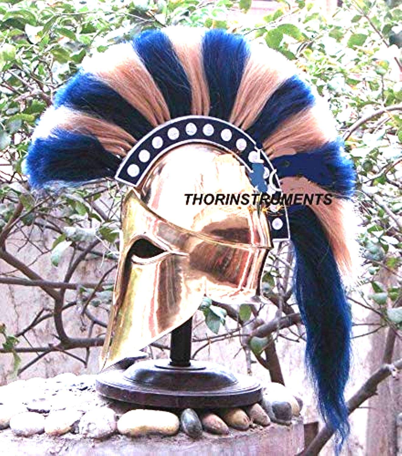 THORINSTRUMENTS (with device) Medieval Ancient Costume Armour Roman Greek Corinthian Helmet war Costume Gift