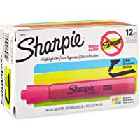Sharpie Tank Highlighters, Chisel Tip, 12 Count, Assorted Colors