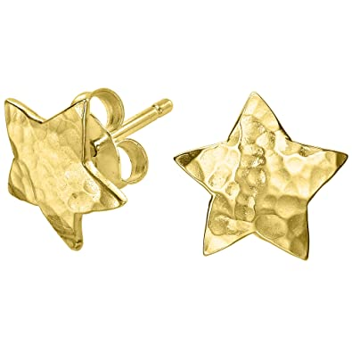 Dower & Hall Nomad Beaten Star Stud Earrings MMDzqRM
