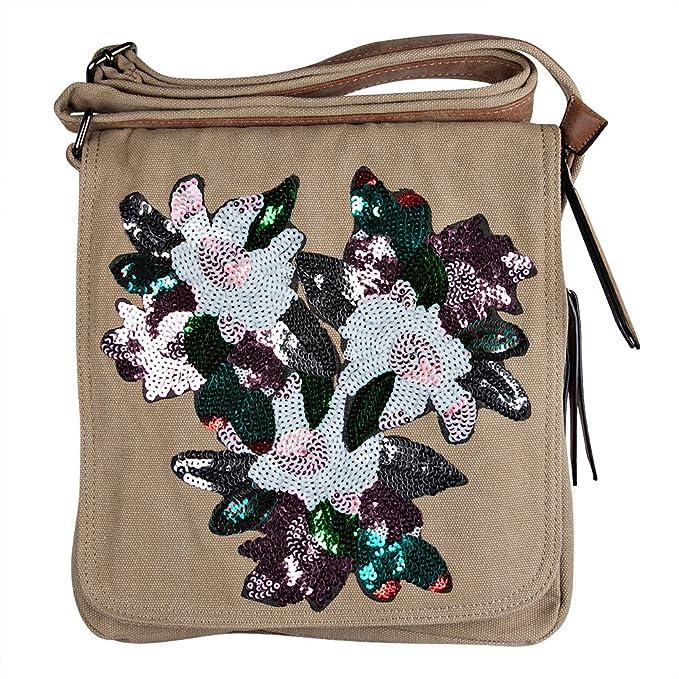Your best choice bolso cruzados de algodón para mujer negro talla única  beige talla única ropa dc41634d8850