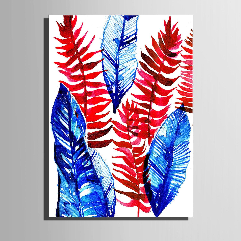 TT&ZHUANGSHI Leinwand-Kunst Rote und Blaue Blätter Dekoration-Malerei, rahmenlose Malerei, 50  70 B077YLDWKW    Sale Deutschland