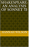 Shakespeare: An Analysis of Sonnet 73 (English Edition)