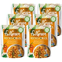 Fullgreen, Riced Ideas, Buffalo Ranch, spicy, risotto- style riced cauliflower, case of 6 pouches - the perfect low-carb…