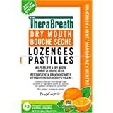 TheraBreath Dry Mouth Lozenges with Added ZINC - Mandarin Mint | Supports & Enhances Your Natural Saliva Production | 72 Coun