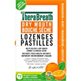TheraBreath Dry Mouth Lozenges with Added ZINC - Mandarin Mint   Supports & Enhances Your Natural Saliva Production   72…