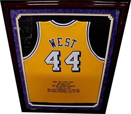 Jerry West Hand Signed Autographed  44 Jersey Los Angeles Lakers w COA  Framed db93e0385