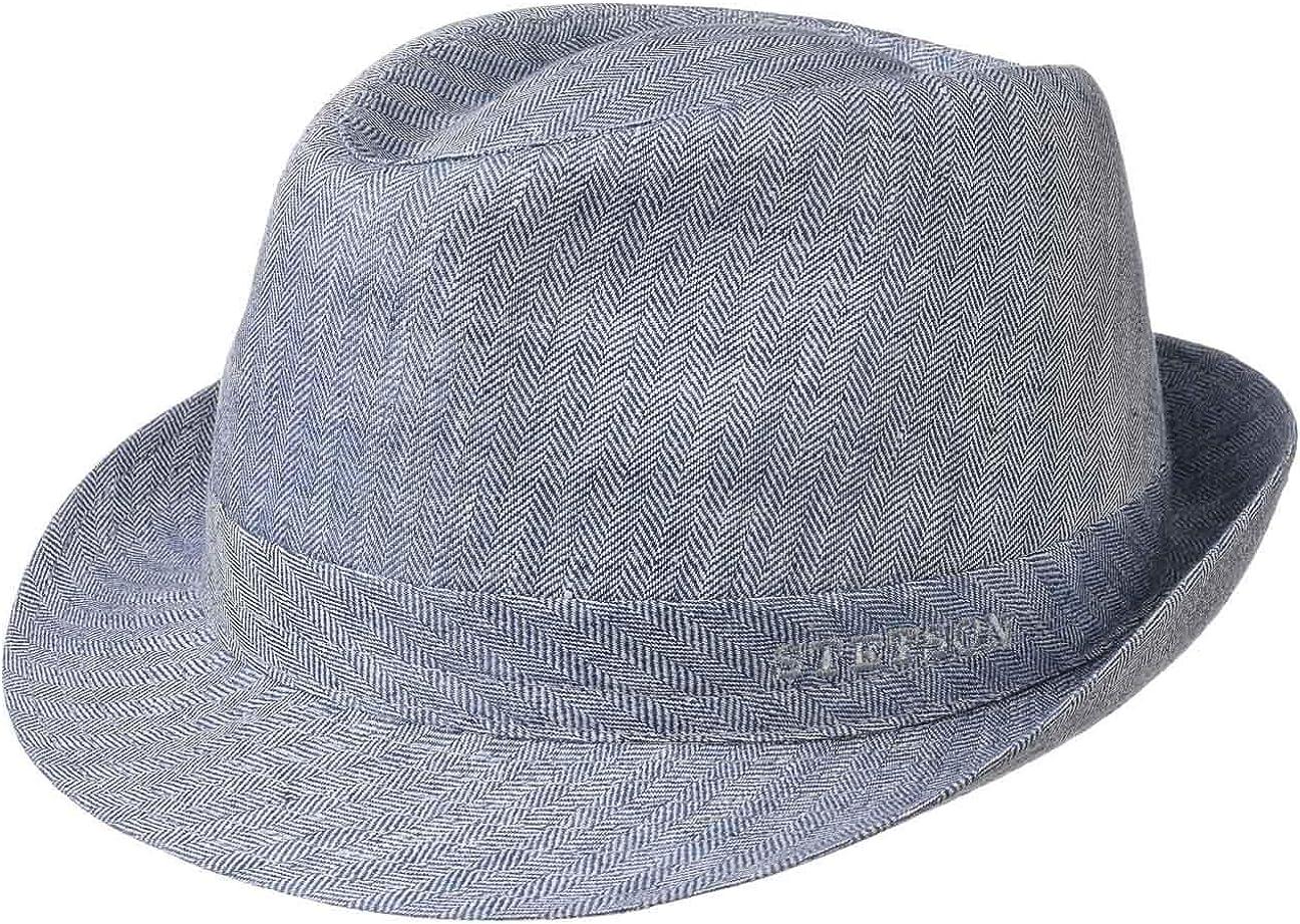 Stetson Osceola Trilby Linen Hat Mujer/Hombre - Made in Italy Sombrero de Verano Lino Hombre con Forro Primavera/Verano