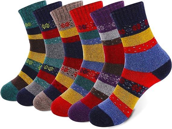 2 Paar Damen Thermo Socken FEETS on FIRE warme dicke Winter Socken GR.: 36-40