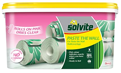 Solvite Paste The Wall 5 Roll Bucket Wallpaper Adhesive Ref 2029424 Pink