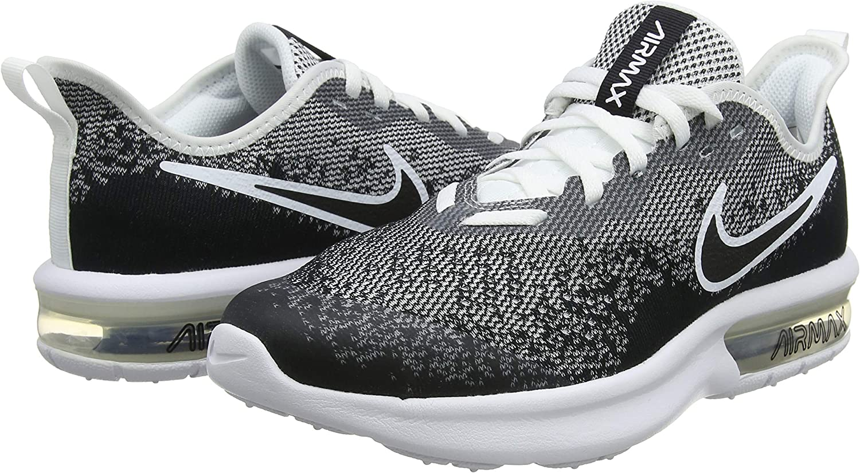 Nike Air Max Sequent 4 Big Kids Style : AQ2244 001 Size : 3.5 Y US BlackBlack White