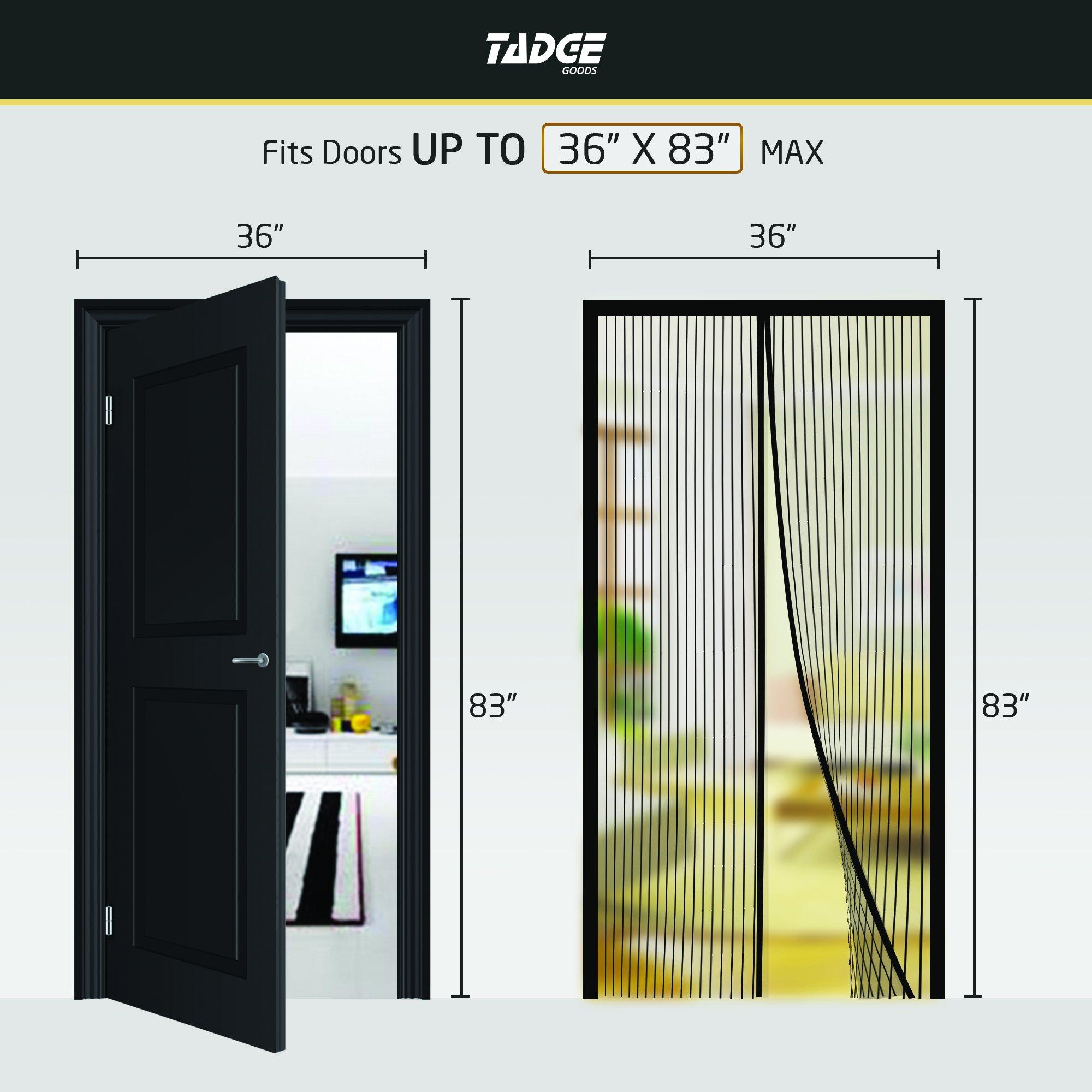 Magnetic Mesh Bug Screen Door Strong Magnets Premium Fiberglass