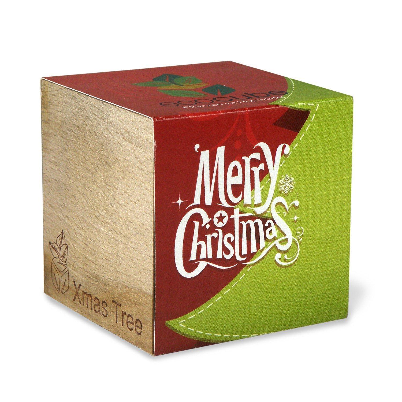 ecocube Holzwürfel - Weihnachtsbaum Merry Christmas (Fichte) Inventive Trading
