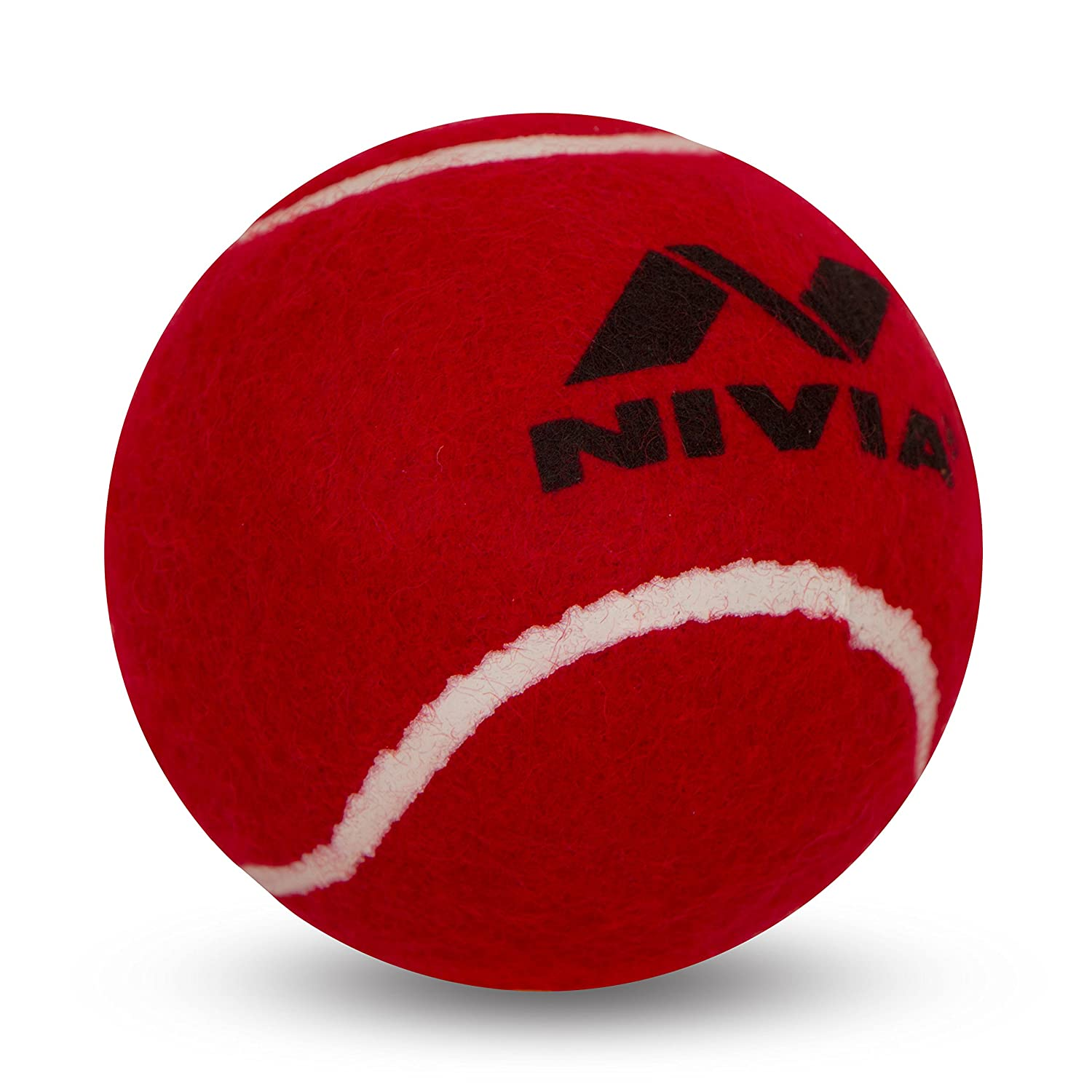 Nivia lourds Balle de tennis Balle de Cricket (Lot de 6) Red 6NiviaR