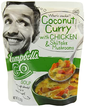 Amazoncom Campbells Go Soup Coconut Curry with Chicken