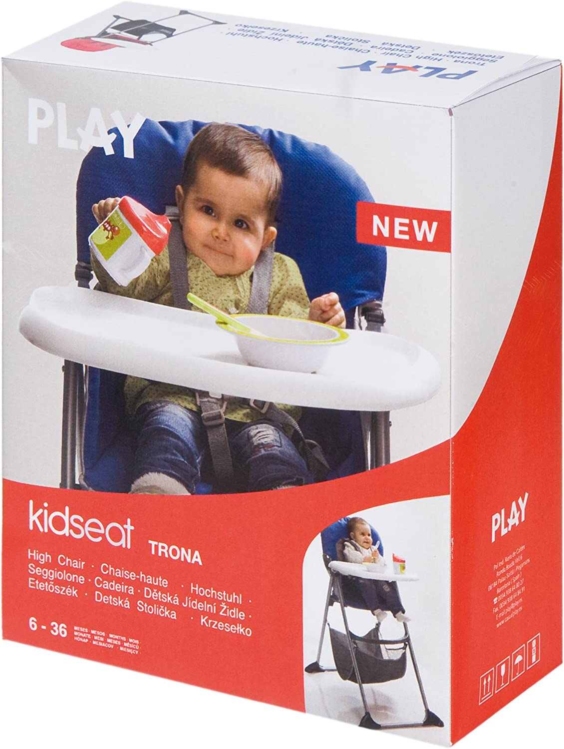 Play Kid Seat color azul Trona