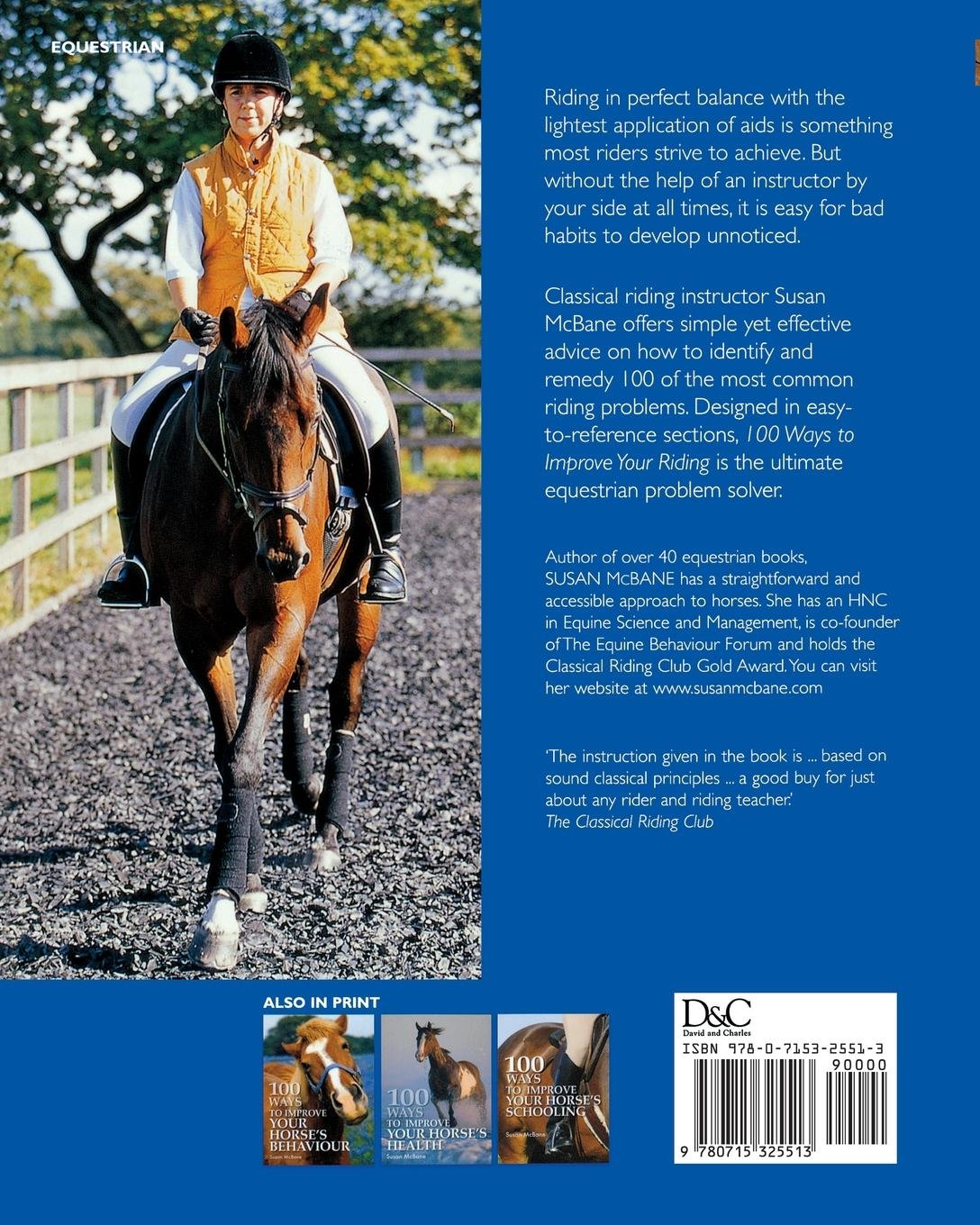 100 Ways to Improve your Riding: Common Faults and How to Cure Them: Susan  Mcbane: 0806488418746: Amazon.com: Books