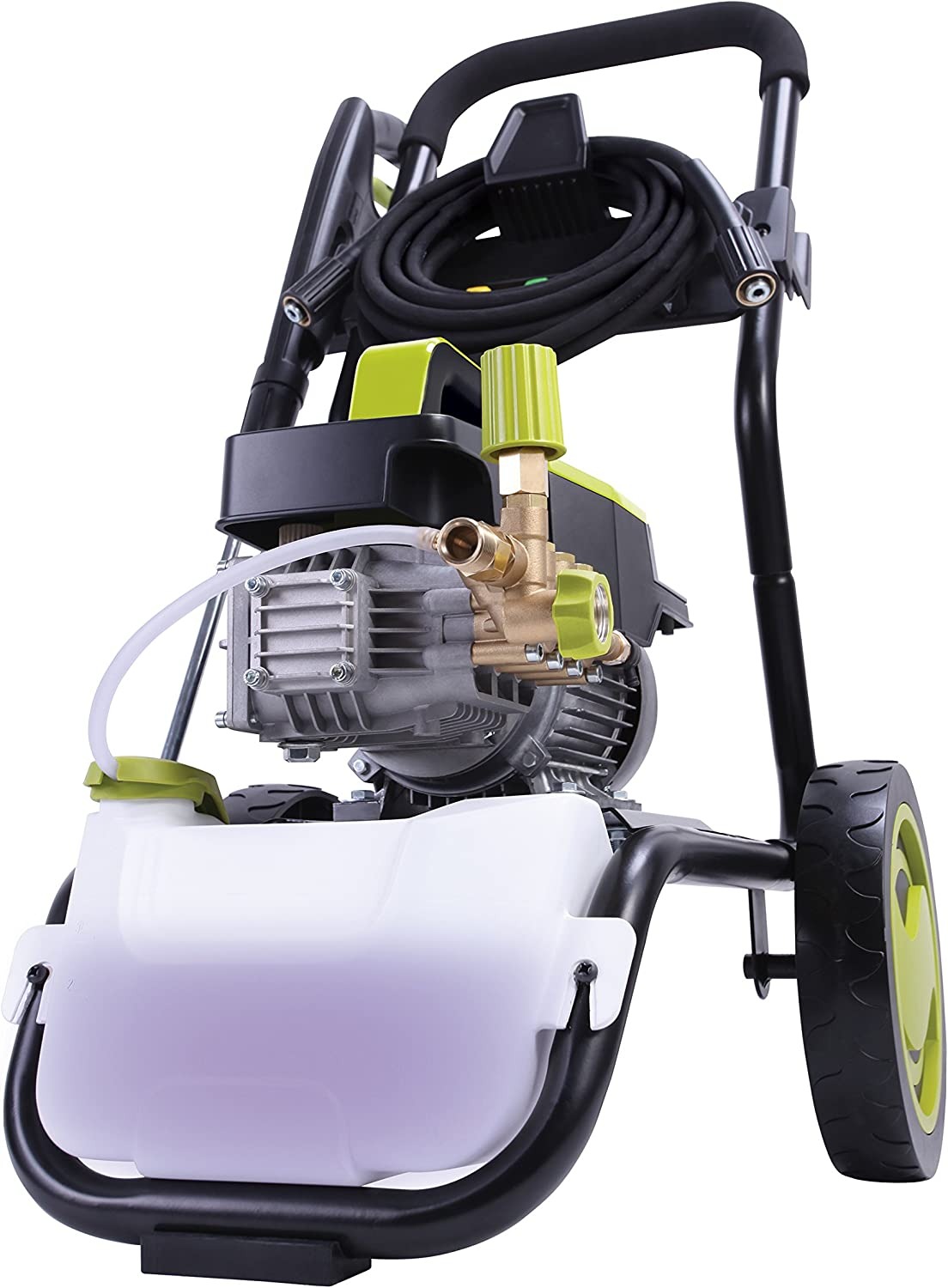 Sun Joe SPX9005-PRO Commercial Series 1300 PSI 2 GPM Max 2.15 HP Brushless Induction Motor Pressure Washer, w/Wall Mount and Roll Cage