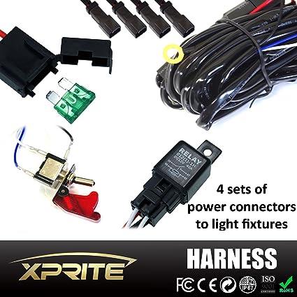 amazon com xprite 4 leg heavy duty off road atv jeep led light bar rh amazon com