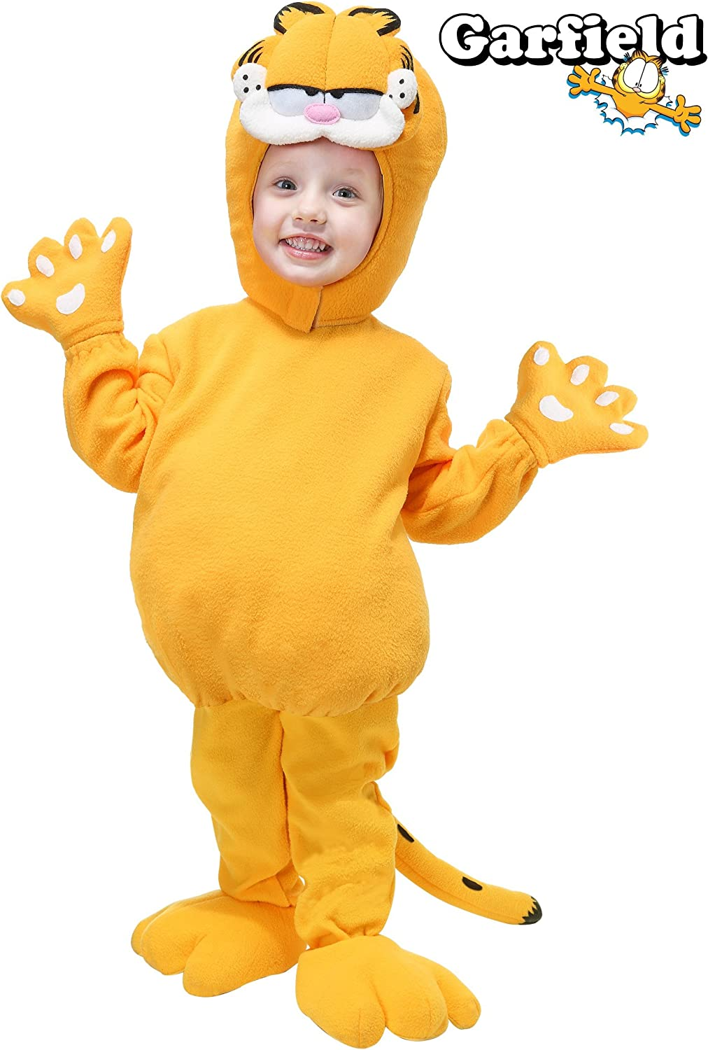 Amazon Com Toddler Garfield Costume 2t Orange Clothing