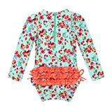 Freebily Baby Girls Long Sleeves Floral Ruffled
