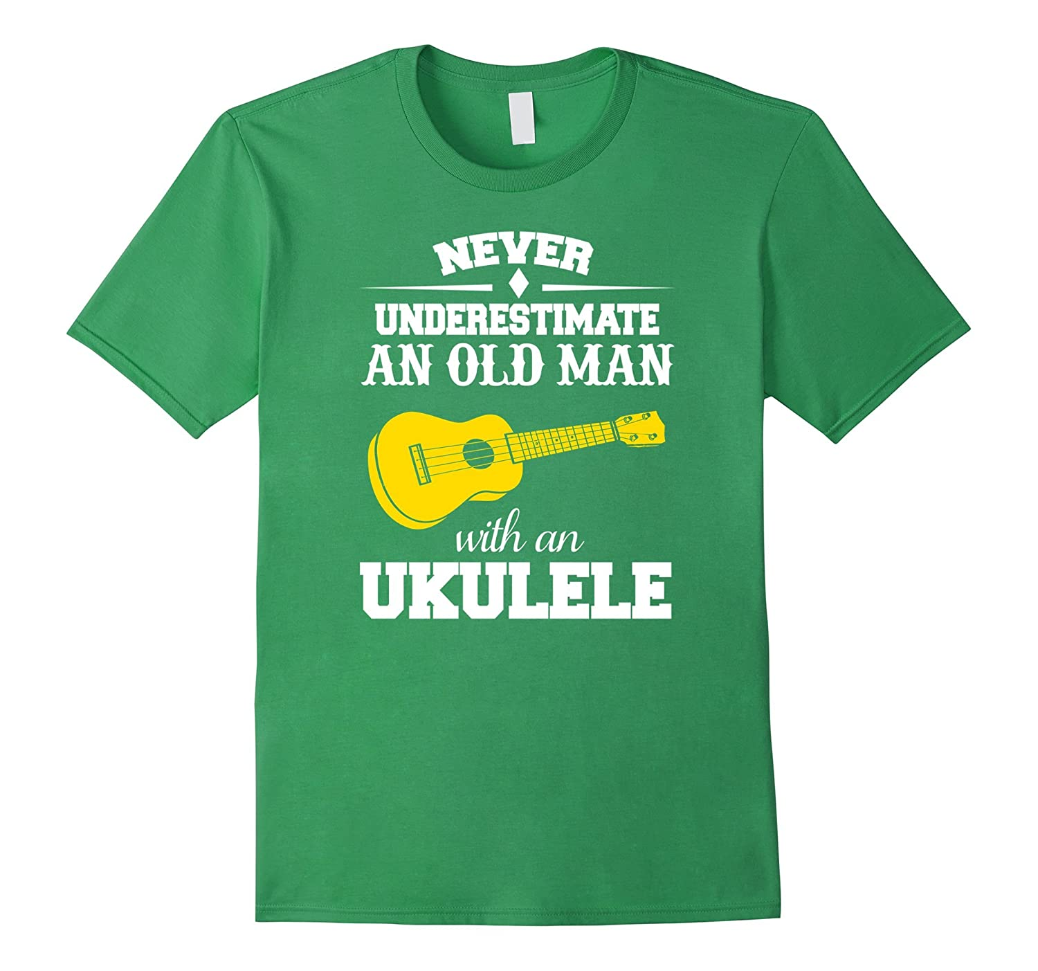 Funny Never Underestimate Old Man With A Ukulele T-shirt
