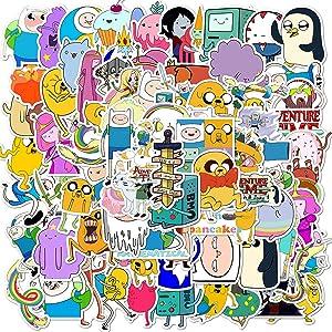 100PCS Adventure Time Stickers, American Cartoon Anime Adventure Time with Finn and Jake Stickers for Kids, Teens, Girls, Adults for Laptop, Water Bottle, Car, Skateboard. Adventure Time
