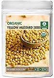 Organic Yellow Mustard Seeds (1lb) by Naturevibe Botanicals, Gluten-Free & Non-GMO (16 ounces)