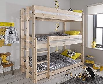 Etagenbett Für 3 Personen : Amazon henrik etagenbett für personen kiefernholz naturfarben