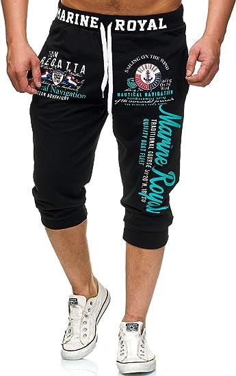 Violento 3646 - Pantalones cortos de deporte para hombre (algodón ...