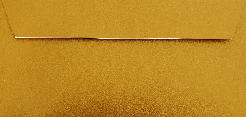 auto-adesivo con protezione carta oro metallico 100 g // mq 25 buste DIN lungo 110 x 220 mm 11 x 22 cm senza finestra