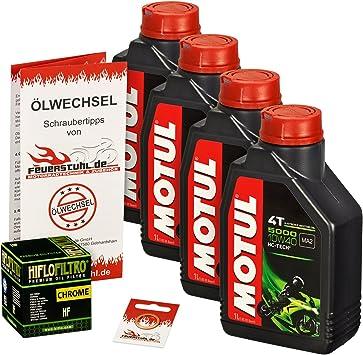 Motul 10w 40 Öl Hiflo Ölfilter Für Kawasaki Vn 900 Classic Custom Vn900b Vn900c Ölwechselset Inkl Motoröl Chrom Filter Dichtring Auto