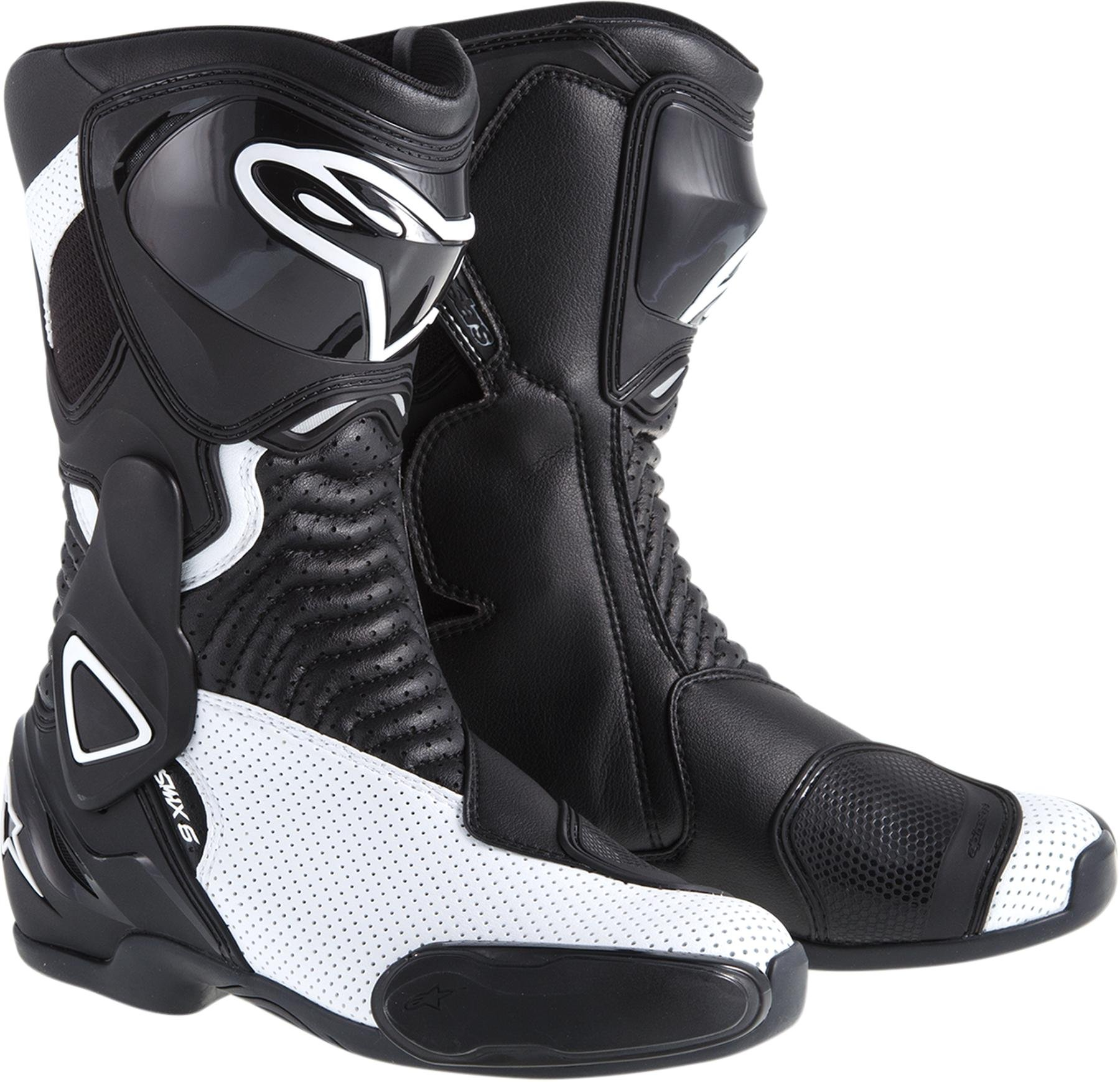 ALPINESTARS STELLA SMX-6 PERFORMANCE RIDING VENTED WOMENS SPORT-FIT BOOTS,BLACK/WHITE,EUR-36/US-5