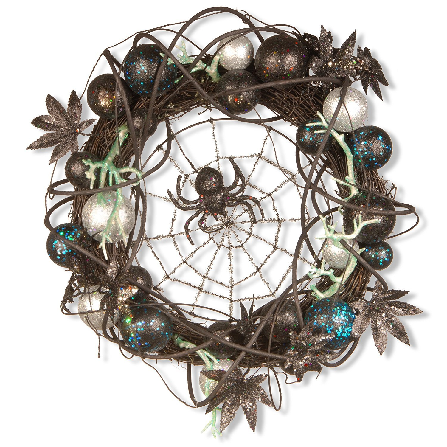 National Tree 18 Inch Halloween Wreath with Black Spider and Ornaments (RAH-W030212)【クリスマス】【ツリー】 [並行輸入品] B077QGHVXS