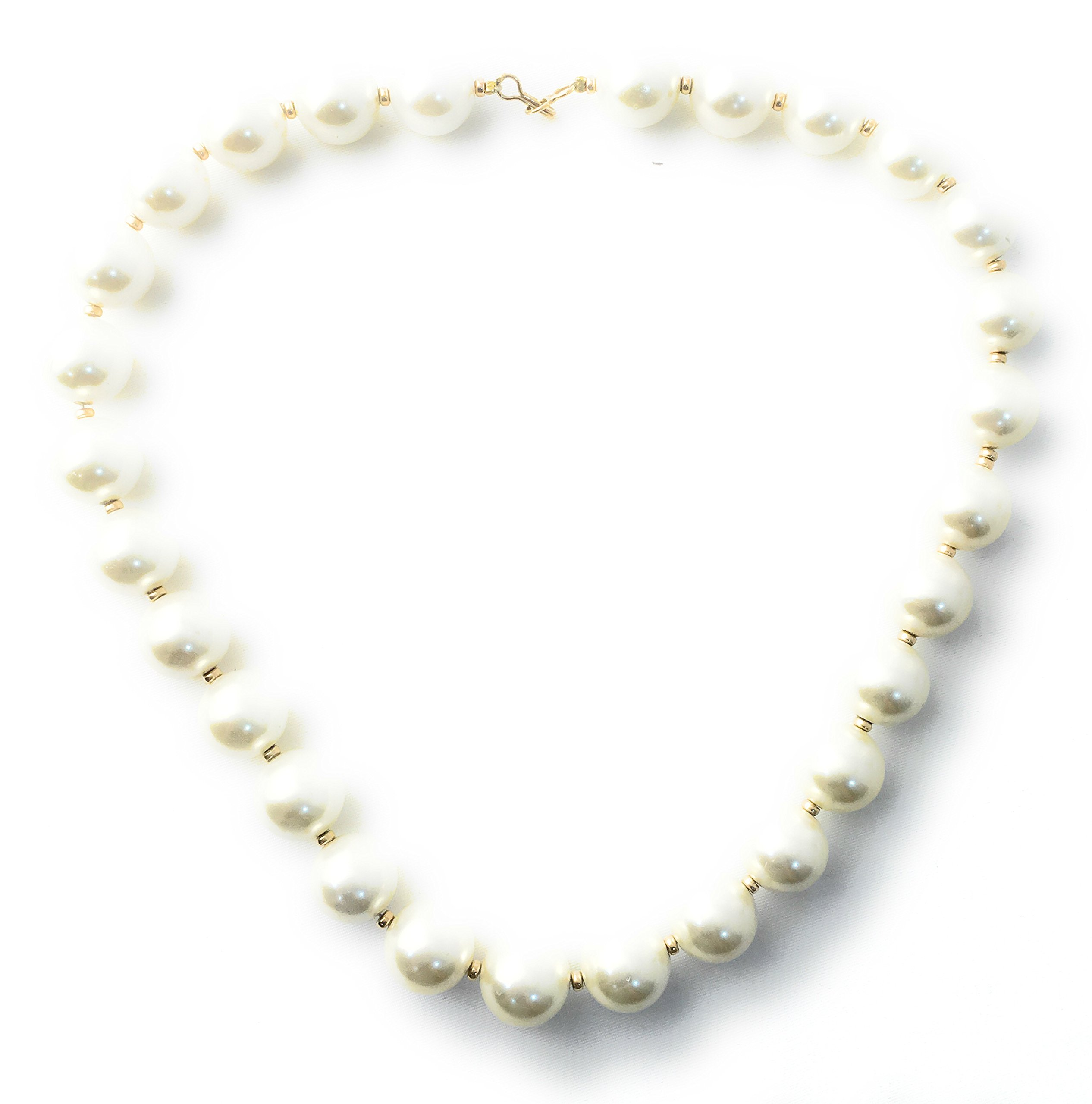 Masha Storewide Sale ! Sterling Silver Necklace By Beautiful Classic, Cultured Pearls, Gold Filled Beads, Made in USA - Exclusive Southwestern Handmade Jewelry, Gift