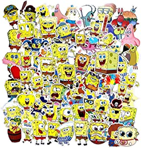 Spongebob Squarepants Stickers,Waterproof Cartoon Vinyl Stickers for Water Bottle and Laptop DIY Decorative Gift, Best Gift for Kids,Children,Teen(100pcs)
