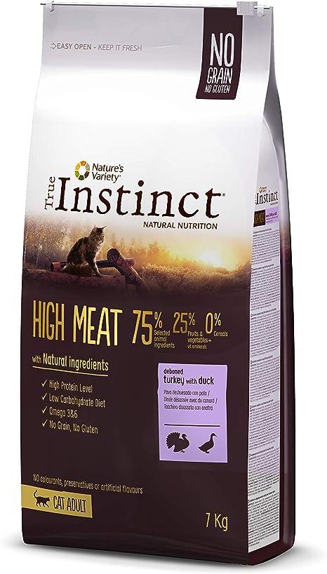 True Instinct High Meat Adult - Natures Variety - Pienso para gato adulto con pavo deshuesado 7kg