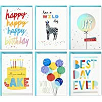 Hallmark Birthday Cards Assortment, 24 Cards with Envelopes (Rainbow Lettering, Best Day Ever)