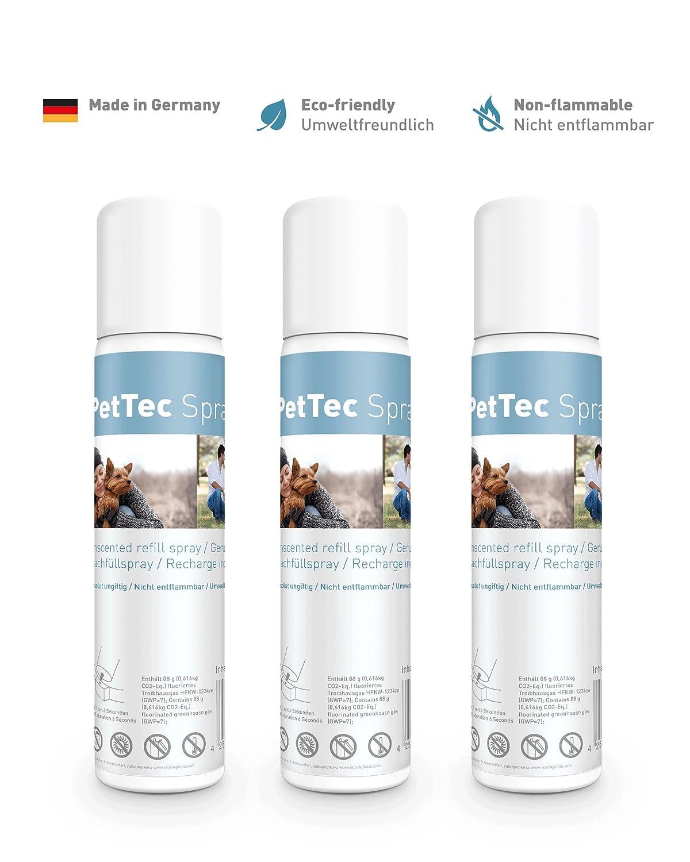 PetTec Antibell Spray à la Citronnelle x3, Anti-aboiement pour Chien, 75ml, Anti allergie et écologique, à Utiliser avec Un Collier 14532