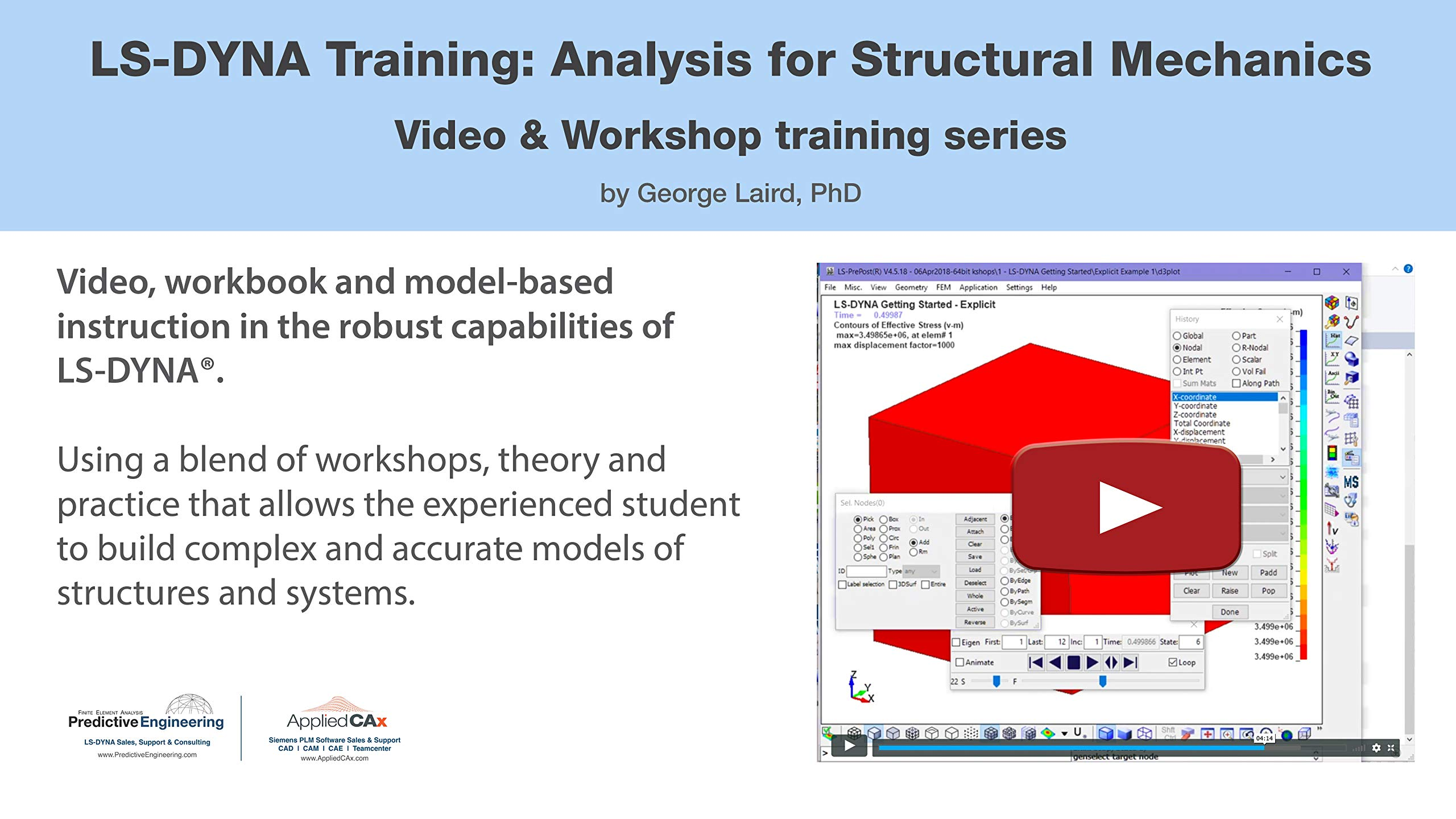 LS-DYNA Training: Analysis for Structural Mechanics - Video